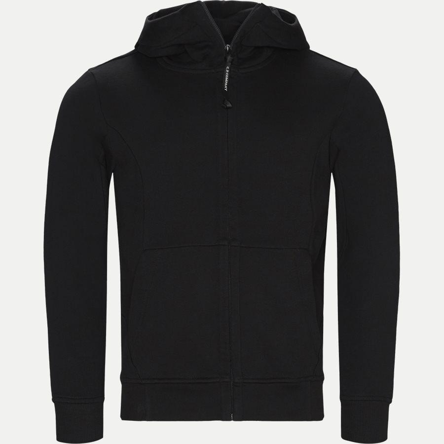 SS009A 005160W - Hooded Open Diagonal Fleece Sweatshirt  - Sweatshirts - Regular fit - SORT - 2