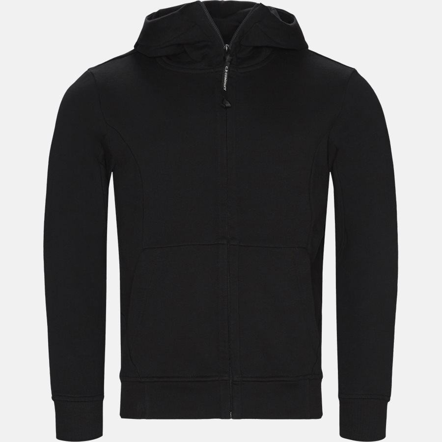 SS009A 005160W - Hooded Open Diagonal Fleece Sweatshirt  - Sweatshirts - Regular - SORT - 2