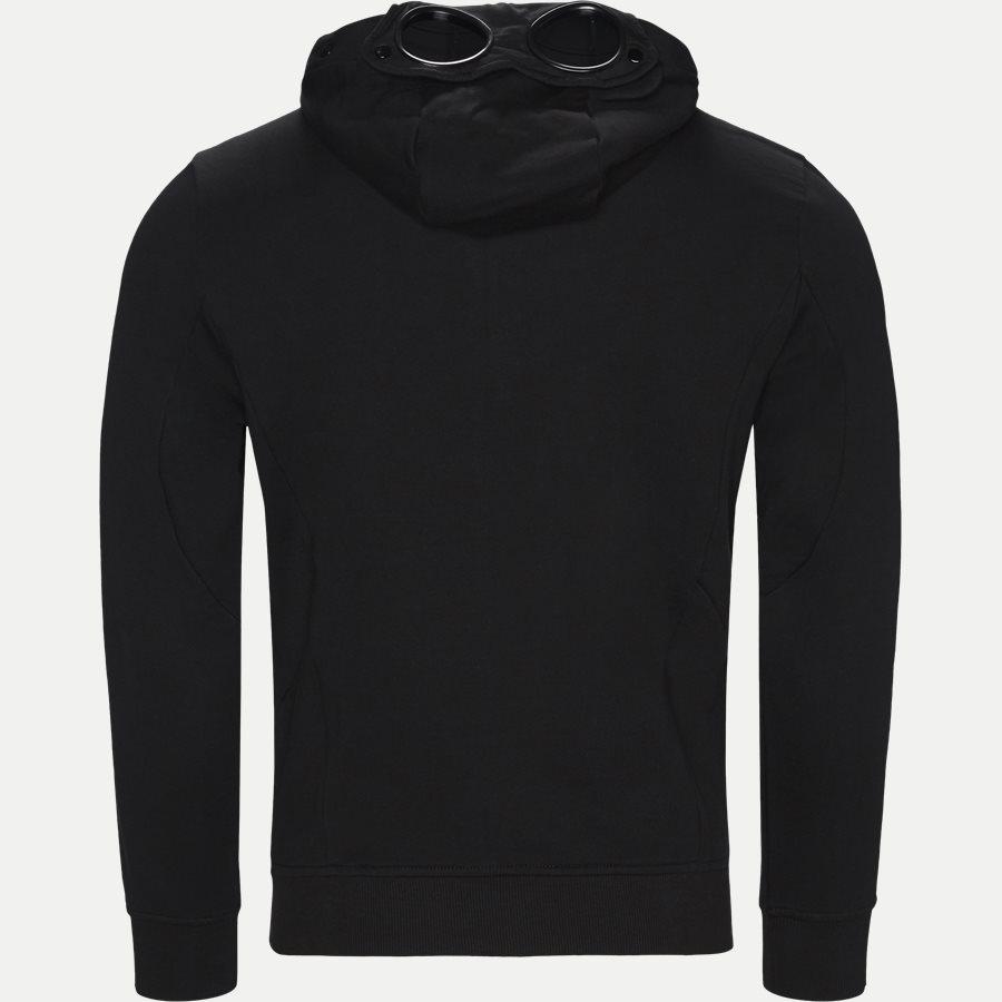 SS009A 005160W - Hooded Open Diagonal Fleece Sweatshirt  - Sweatshirts - Regular fit - SORT - 3