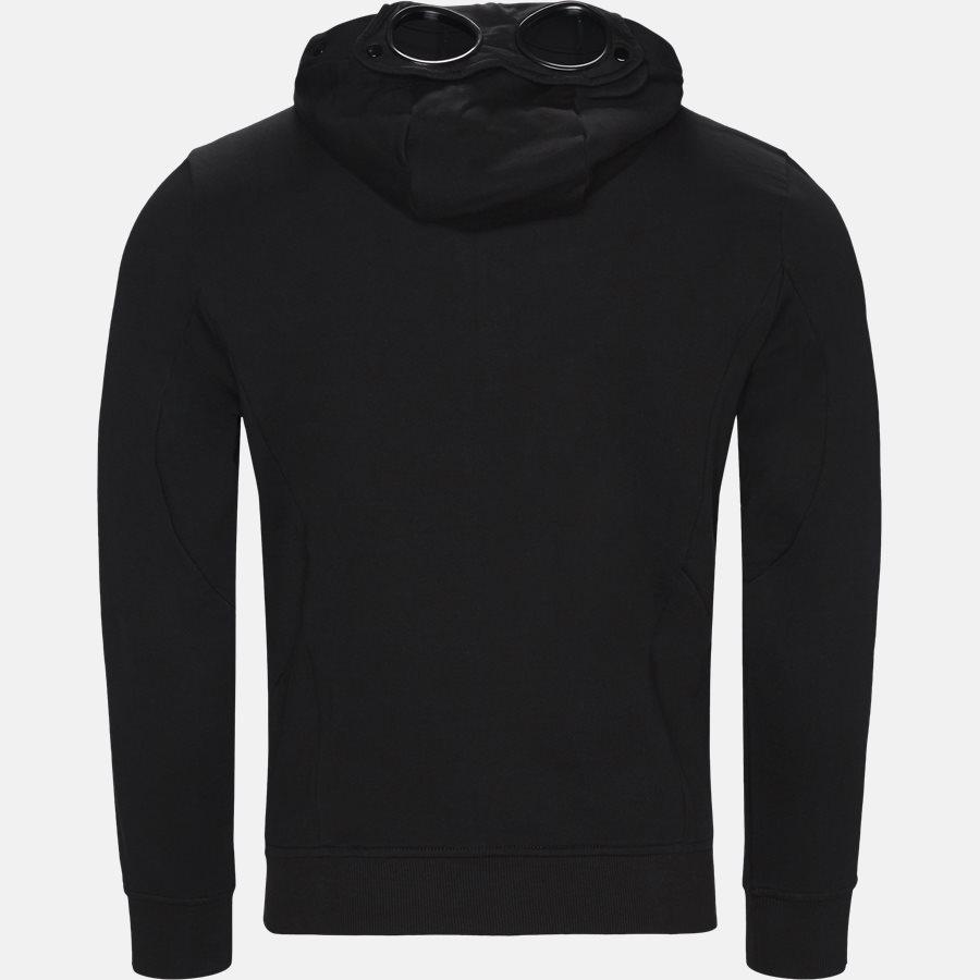 SS009A 005160W - Hooded Open Diagonal Fleece Sweatshirt  - Sweatshirts - Regular - SORT - 3
