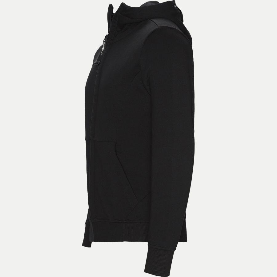 SS009A 005160W - Hooded Open Diagonal Fleece Sweatshirt  - Sweatshirts - Regular fit - SORT - 4
