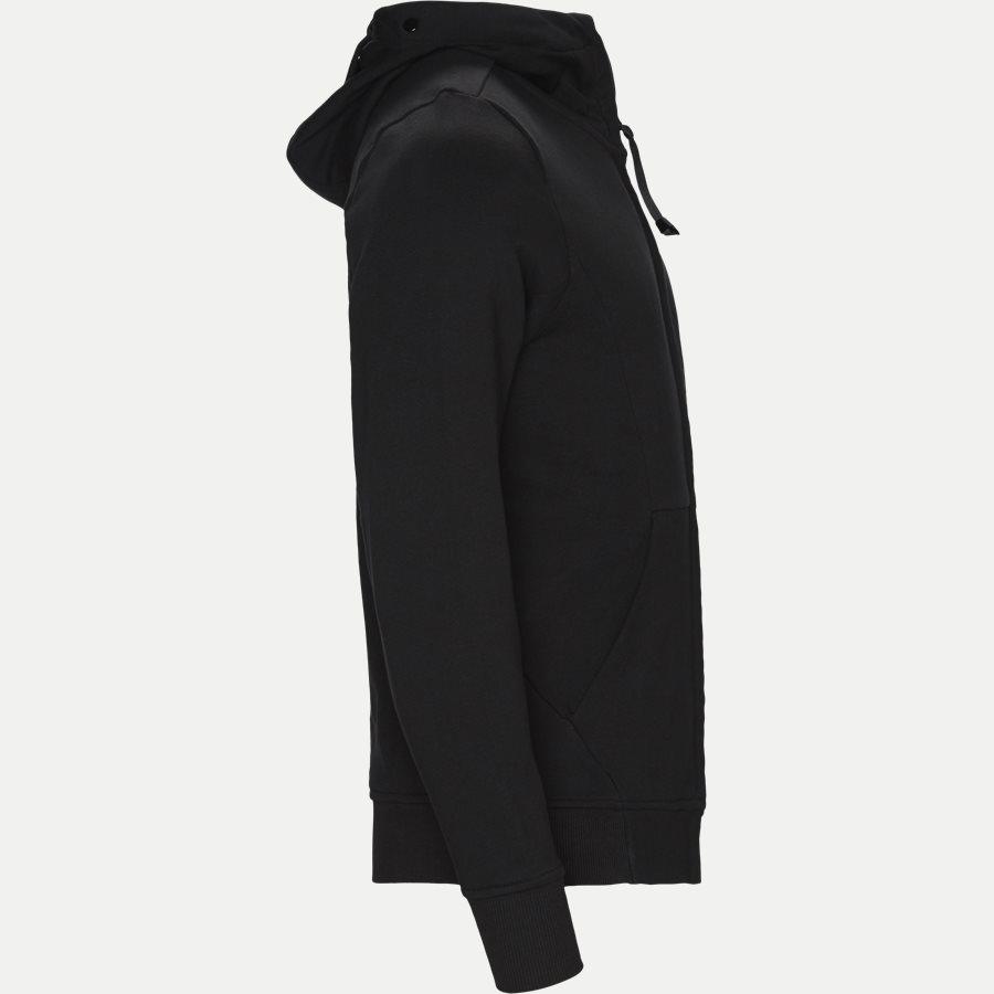 SS009A 005160W - Hooded Open Diagonal Fleece Sweatshirt  - Sweatshirts - Regular fit - SORT - 5