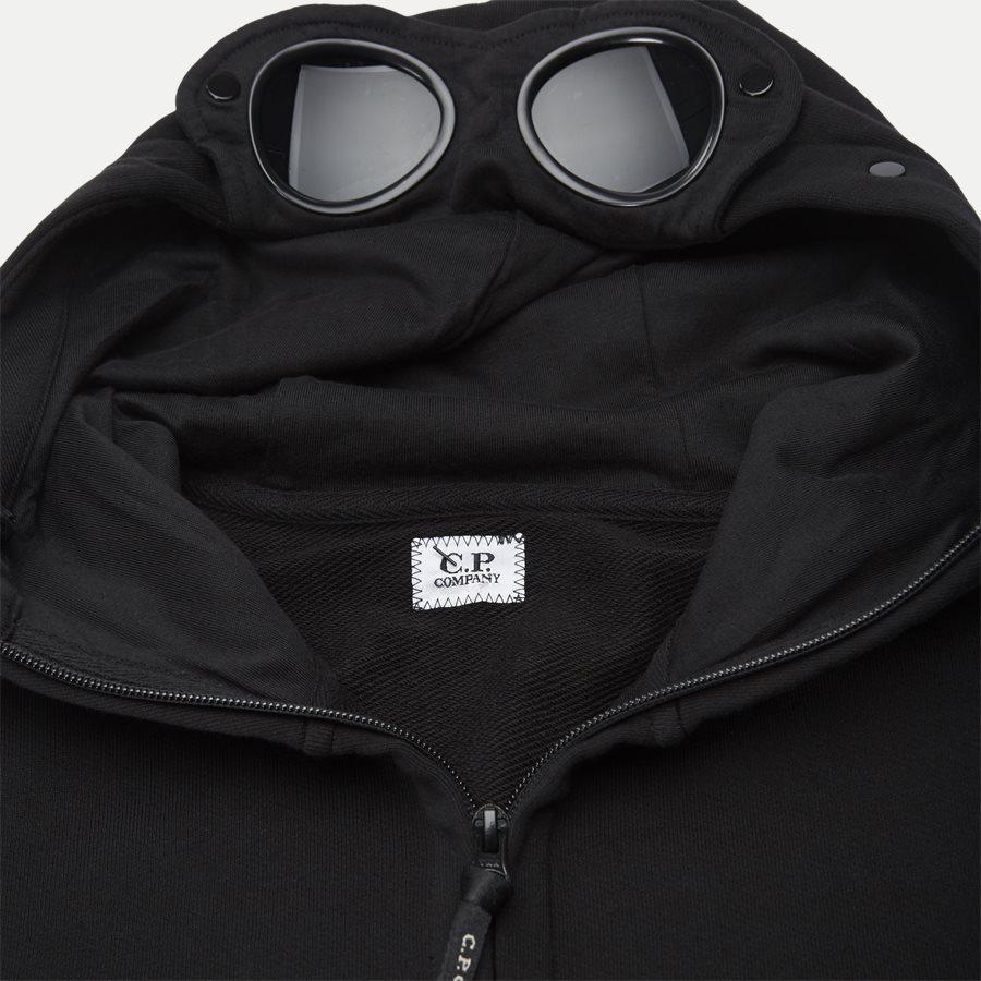 SS009A 005160W - Hooded Open Diagonal Fleece Sweatshirt  - Sweatshirts - Regular fit - SORT - 6