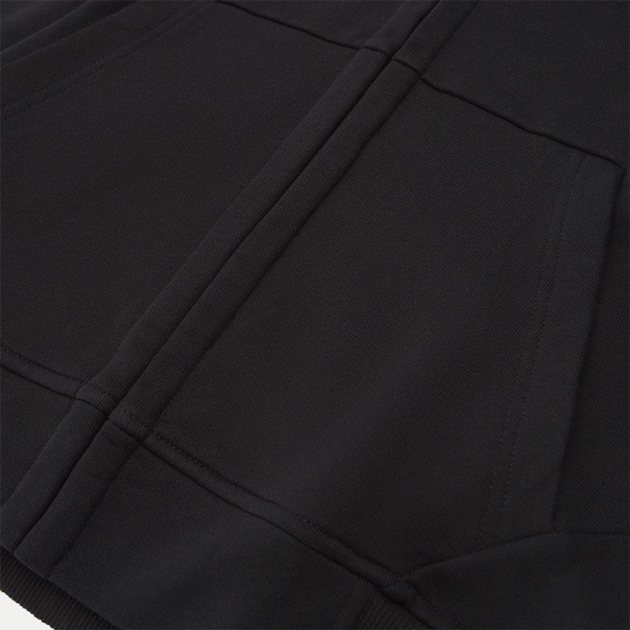 SS009A 005160W - Hooded Open Diagonal Fleece Sweatshirt  - Sweatshirts - Regular fit - SORT - 8