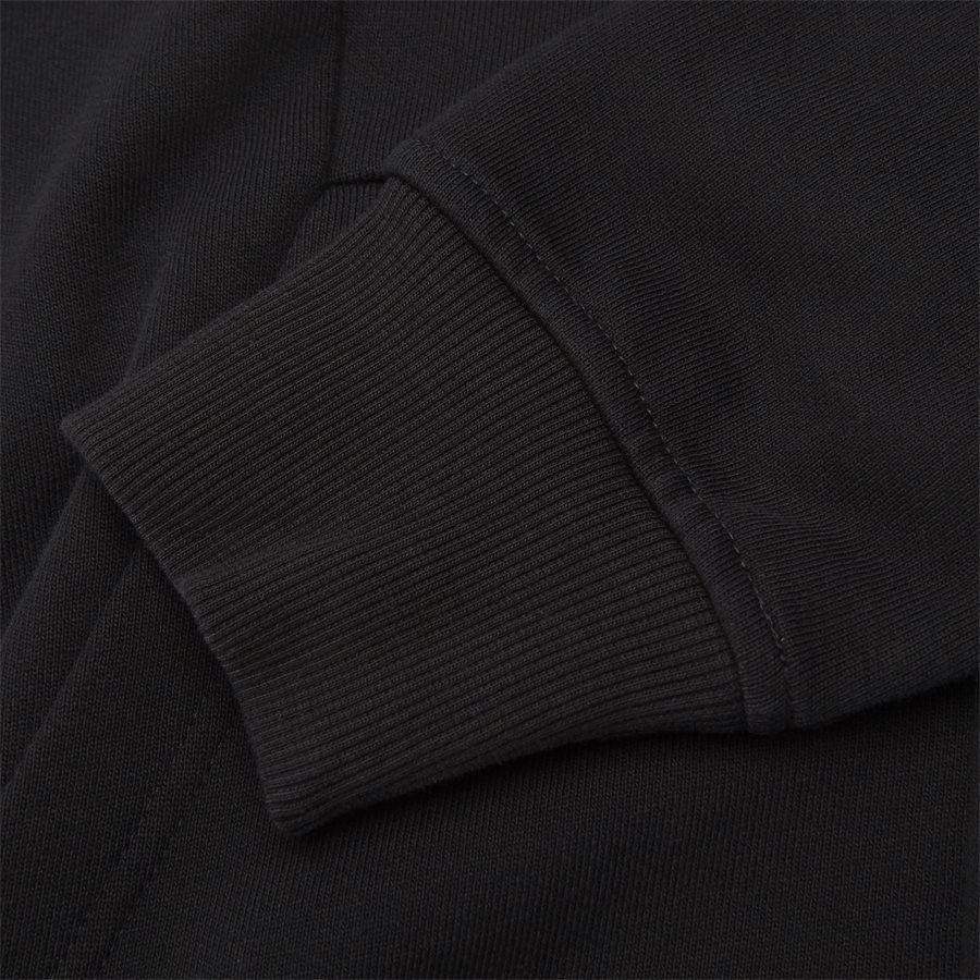 SS009A 005160W - Hooded Open Diagonal Fleece Sweatshirt  - Sweatshirts - Regular fit - SORT - 9