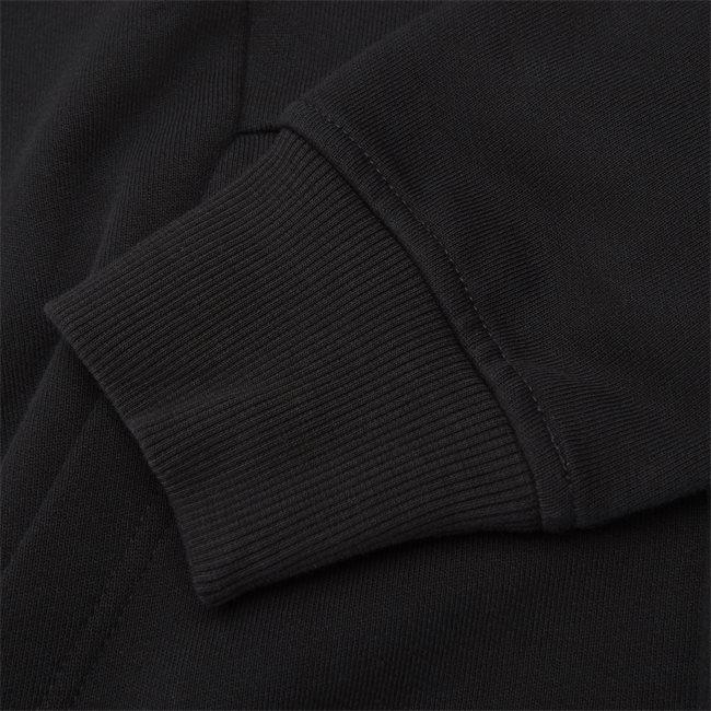 Hooded Open Diagonal Fleece Sweatshirt