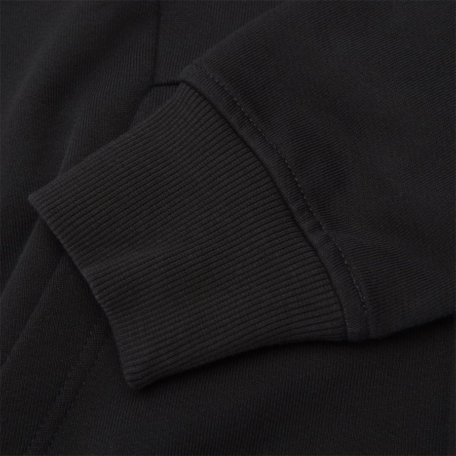SS009A 005160W - Hooded Open Diagonal Fleece Sweatshirt  - Sweatshirts - Regular - SORT - 9