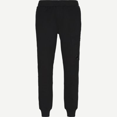 Diagonal Fleece Sweatpants Regular fit | Diagonal Fleece Sweatpants | Sort