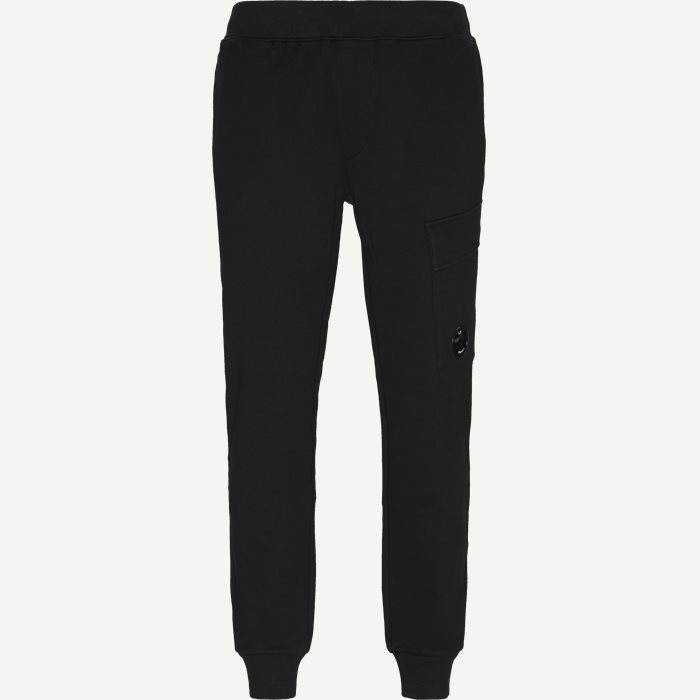 Diagonal Fleece Sweatpants - Bukser - Regular fit - Sort