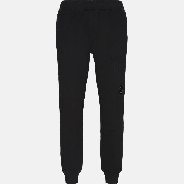 Diagonal Fleece Sweatpants - Bukser - Regular - Sort