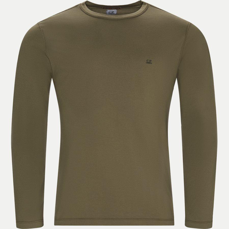 TS055A 000444G - Long Sleeve Mako' Jersey T-shirt - T-shirts - Regular - OLIVEN - 1