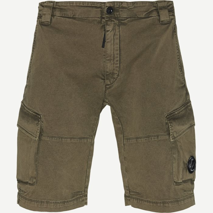 Bermuda Cargo Stretch Garbardine Shorts - Shorts - Regular - Army