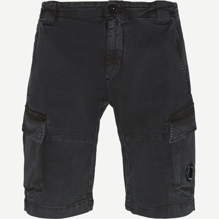 Bermuda Cargo Stretch Garbardine Shorts - Shorts - Regular - Sort