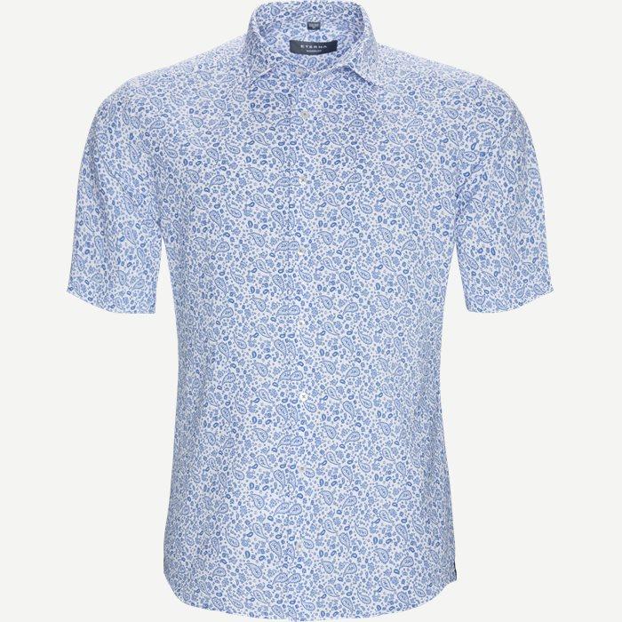 3758 Kortærmet Skjorte - Kortærmede skjorter - Modern fit - Blå