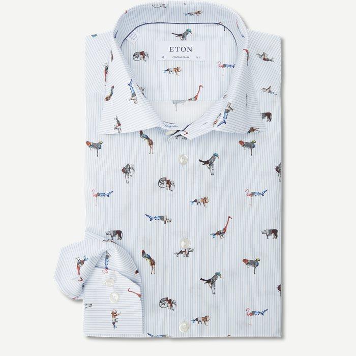 2145 Poplin Skjorte - Skjorter - Blå