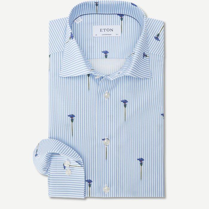 2144 Poplin Skjorte - Skjorter - Blå