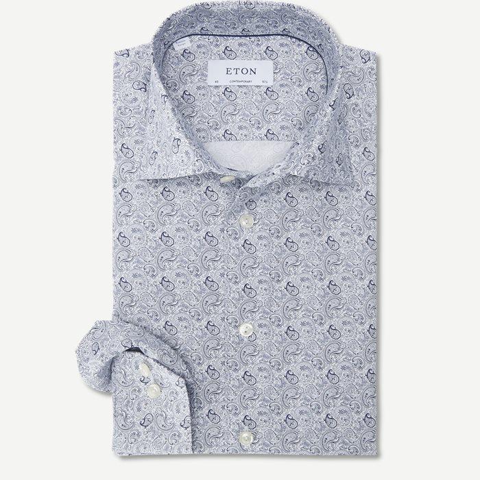 2085 Poplin Skjorte - Skjorter - Blå