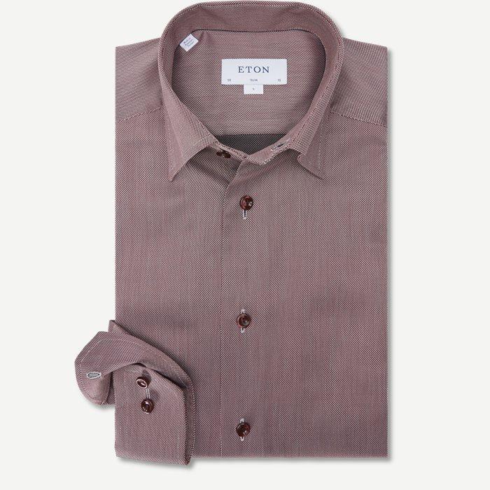 3429 Signature Twill Skjorte - Skjorter - Bordeaux