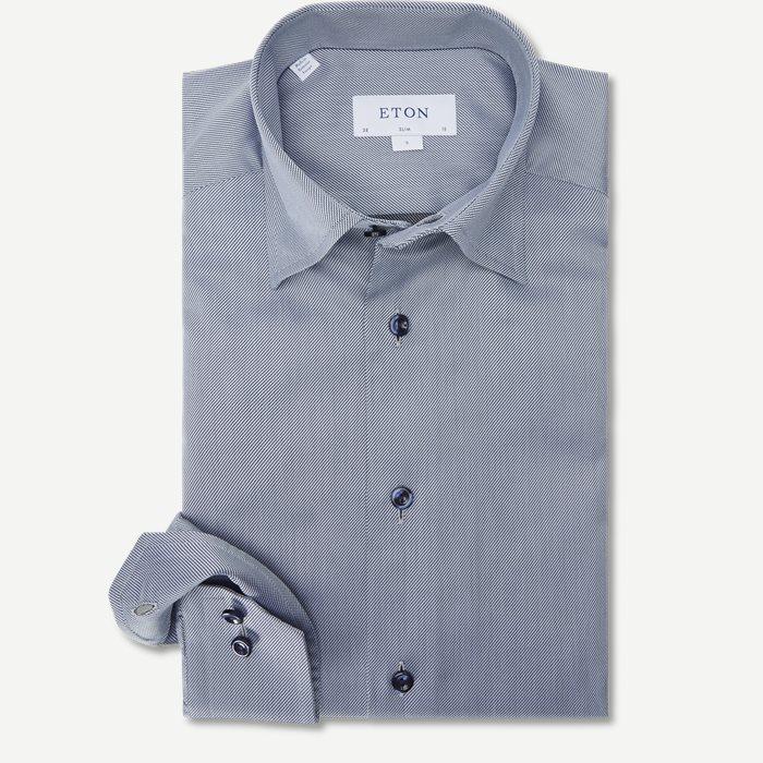 3429 Signature Twill Skjorte - Skjorter - Blå