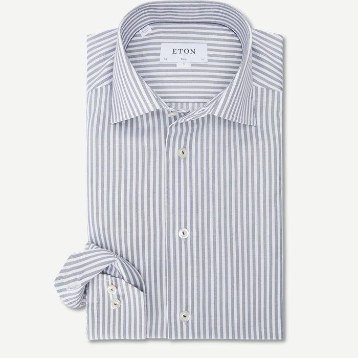 2055 Poplin Skjorte - Skjorter - Blå