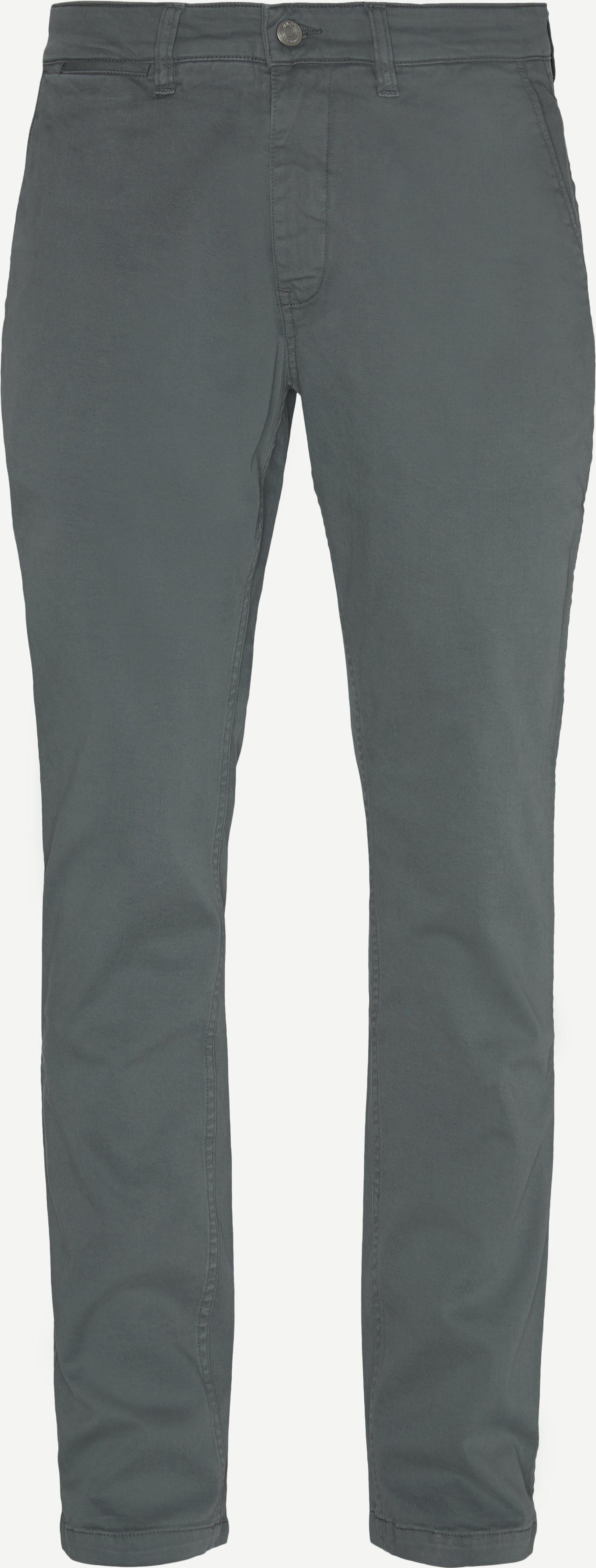 Byxor - Slim fit - Grön