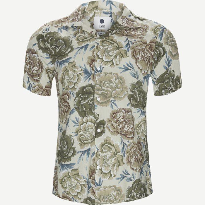 Miyagi Kortærmet Skjorte - Kortærmede skjorter - Regular - Sand