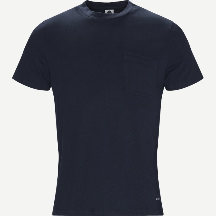 Barry 3266 Pocket Tee - T-shirts - Regular - Blå