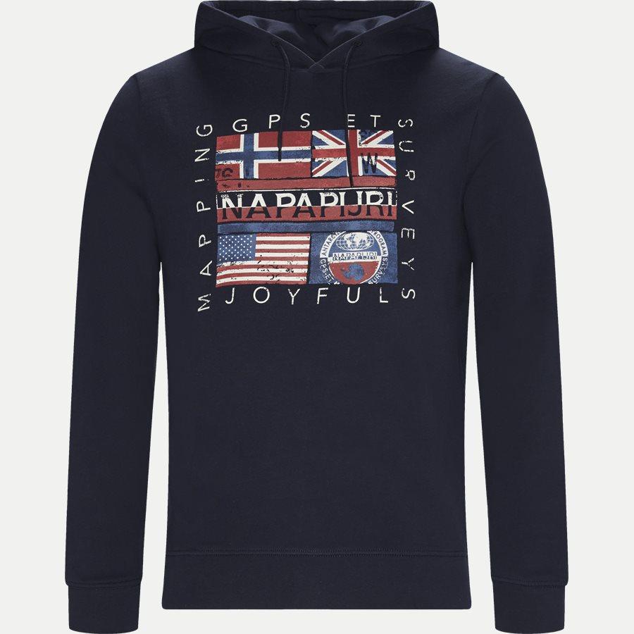BACHU - Bachu Sweatshirt - Sweatshirts - Regular - NAVY - 1