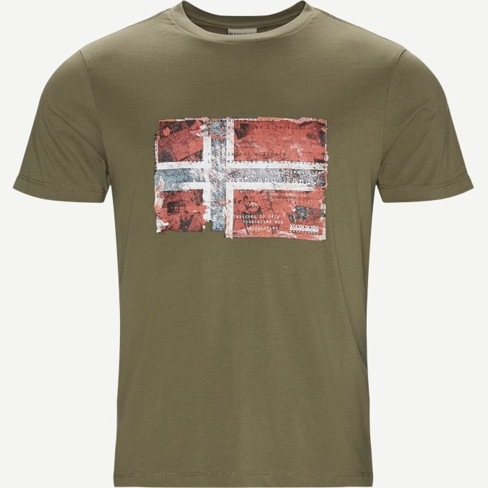 Seitem T-shirt - T-shirts - Regular - Army