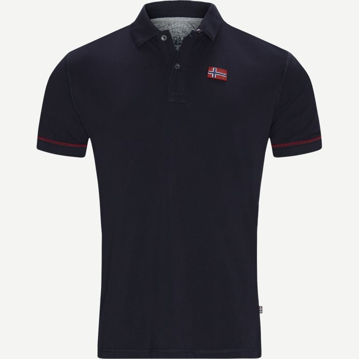 Erli Polo T-shirt - T-shirts - Regular - Blå