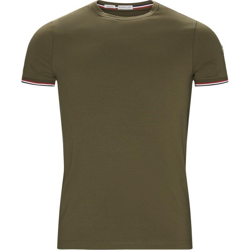Billede af Moncler Slim 80199 87296 T-shirts Oliven