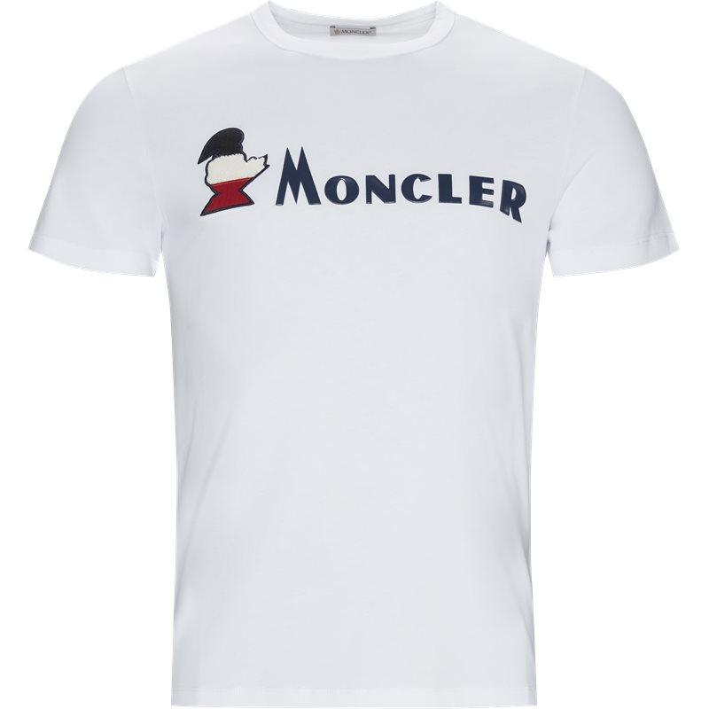 Billede af Moncler Regular fit 80418 8390T T-shirts Hvid