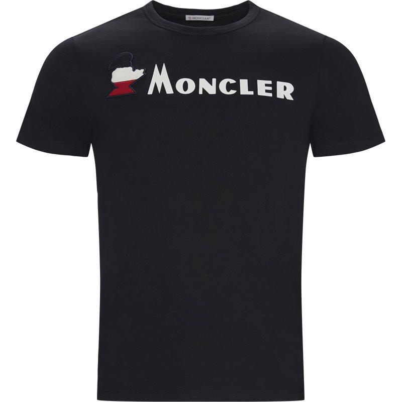Billede af Moncler Regular fit 80418 8390T T-shirts Navy