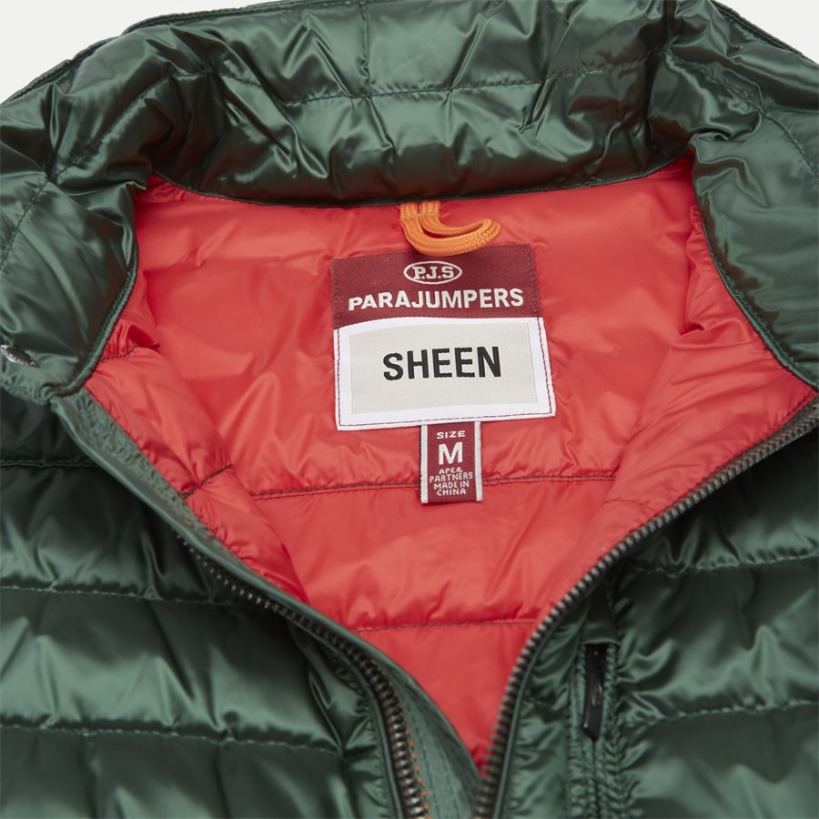 SX03 BREDFORD - Bredford Sheen Down Jacket - Jakker - Regular - GRØN - 5