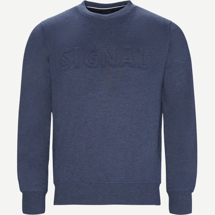 Hunter Crew CP Sweatshirt - Sweatshirts - Regular - Denim