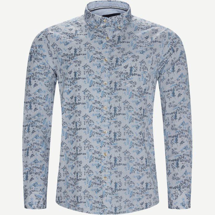 Mads Blue Print CP  - Skjorter - Regular - Blå