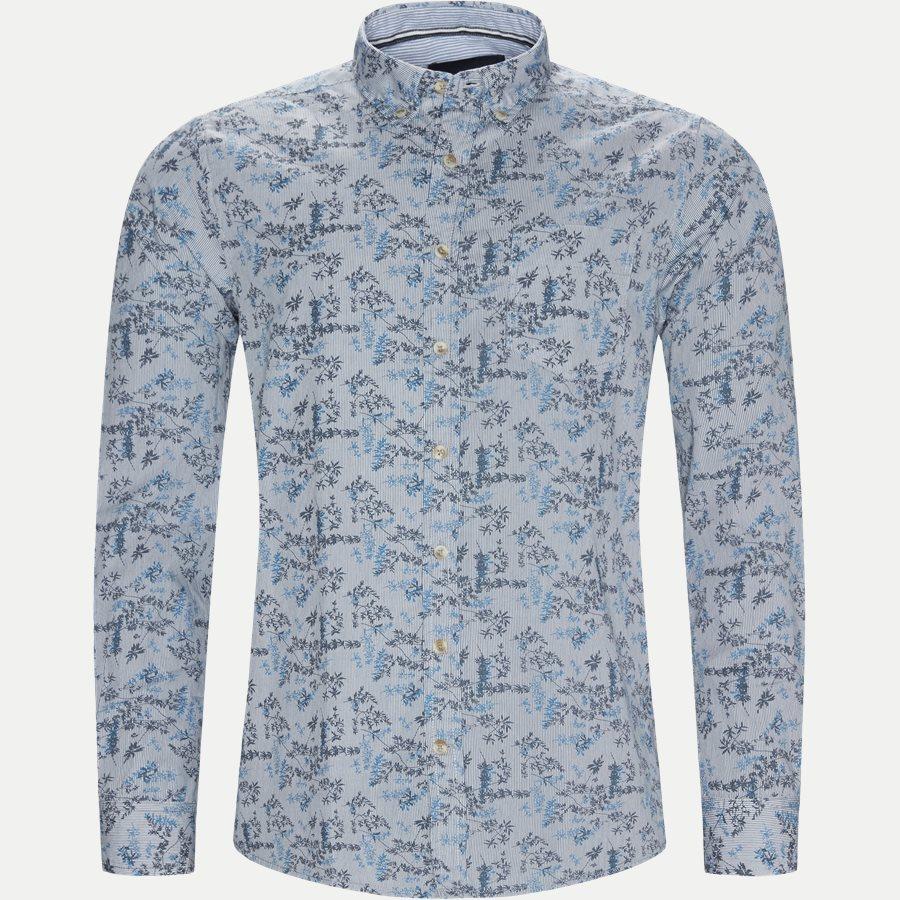 15284 1254 - Mads Blue Print CP  - Skjorter - Regular - BLÅ - 1