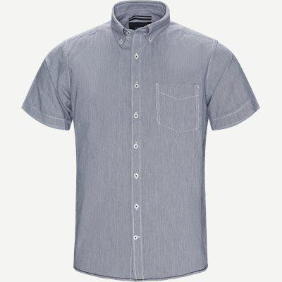 Kevin2 Pepita CP Kortærmet Skjorte Regular | Kevin2 Pepita CP Kortærmet Skjorte | Blå