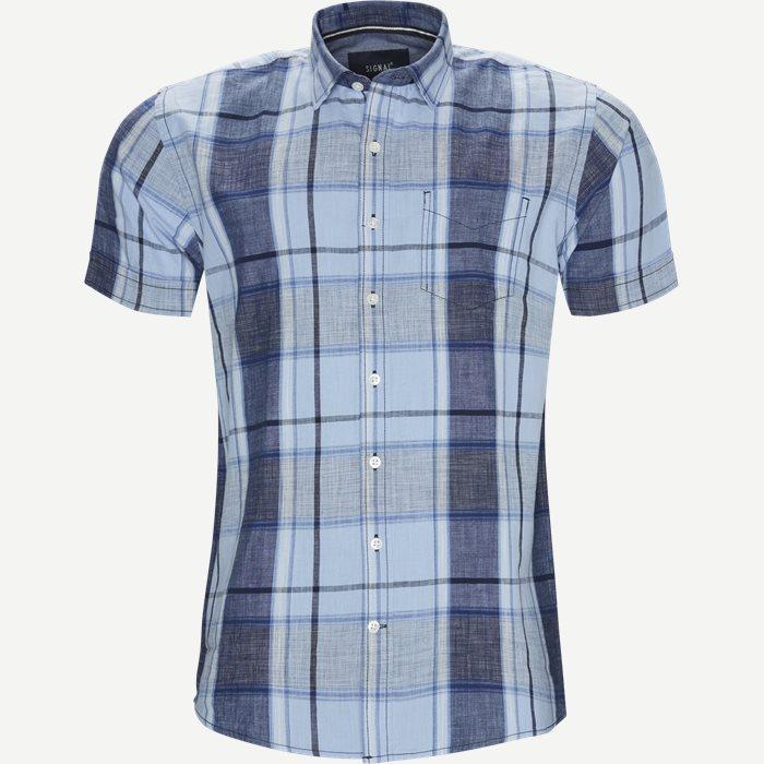 Mack Check CP - Kortærmede skjorter - Regular - Blå