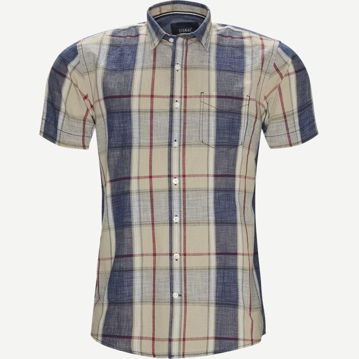 Mack Check CP - Kortærmede skjorter - Regular - Sand