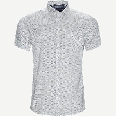 Mons Print Skjorte Regular | Mons Print Skjorte | Hvid