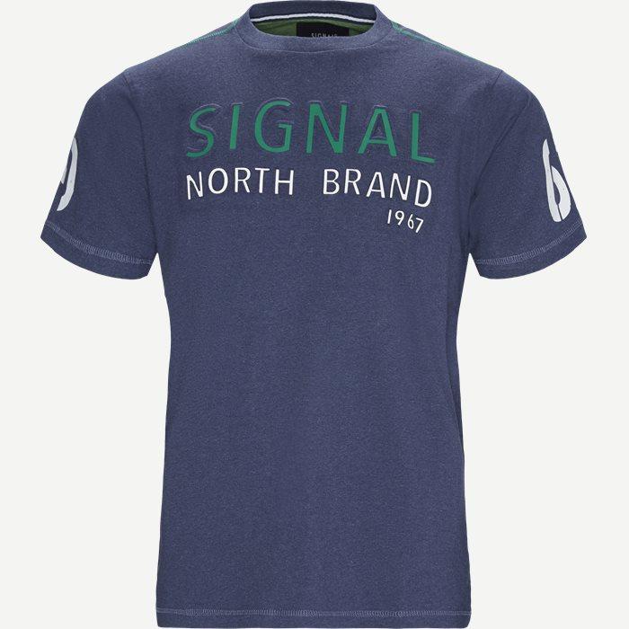 Niels Embossed T-shirt - T-shirts - Regular - Denim