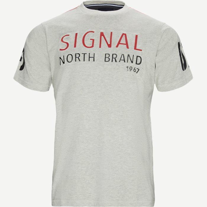 Niels Embossed T-shirt - T-shirts - Regular - Grå