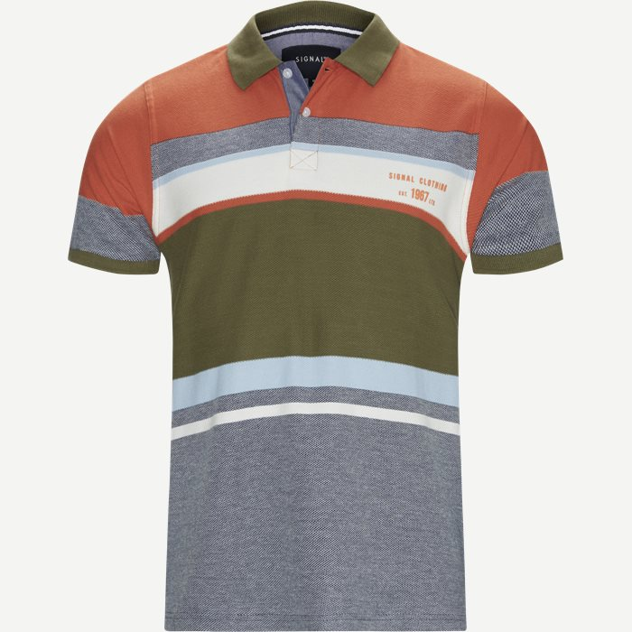 Niel Big Stripe Polo T-shirt - T-shirts - Regular - Blå