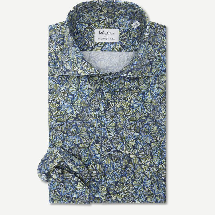 7719 Twofold Super Cotton Skjorte - Skjorter - Grøn