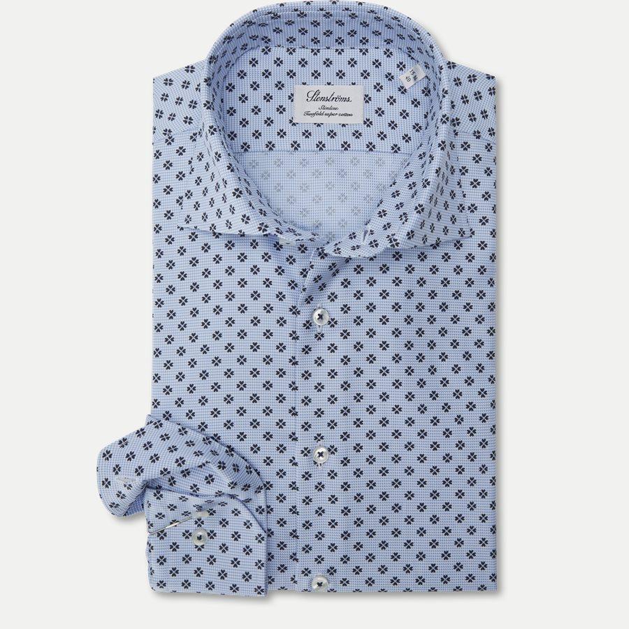 7758 712751/612751 - Twofold Super Cotton Skjorte - Skjorter - BLÅ - 1