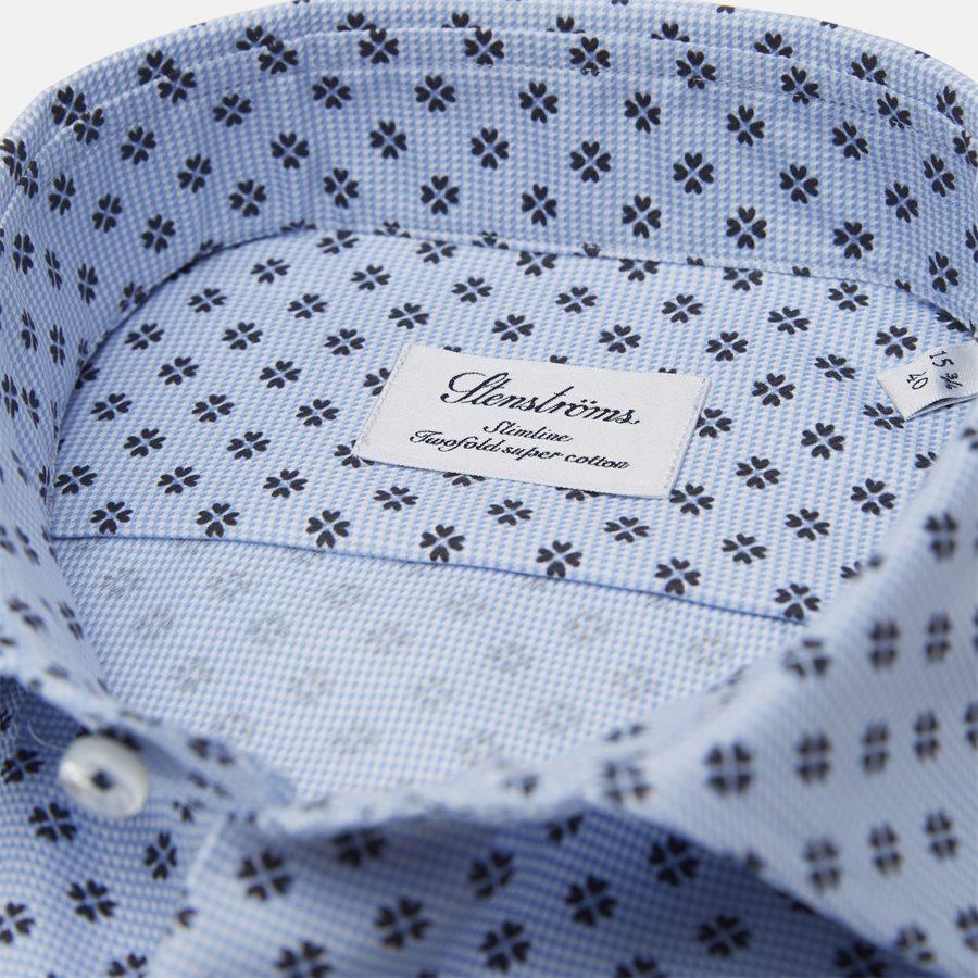 7758 712751/612751 - Twofold Super Cotton Skjorte - Skjorter - BLÅ - 2