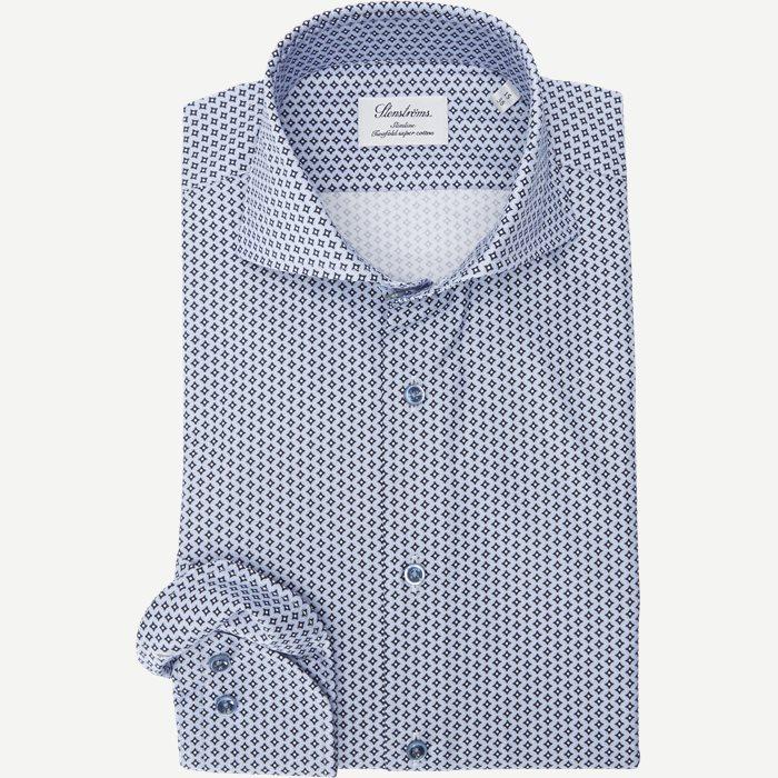 7707 Twofold Super Cotton Skjorte - Skjorter - Blå
