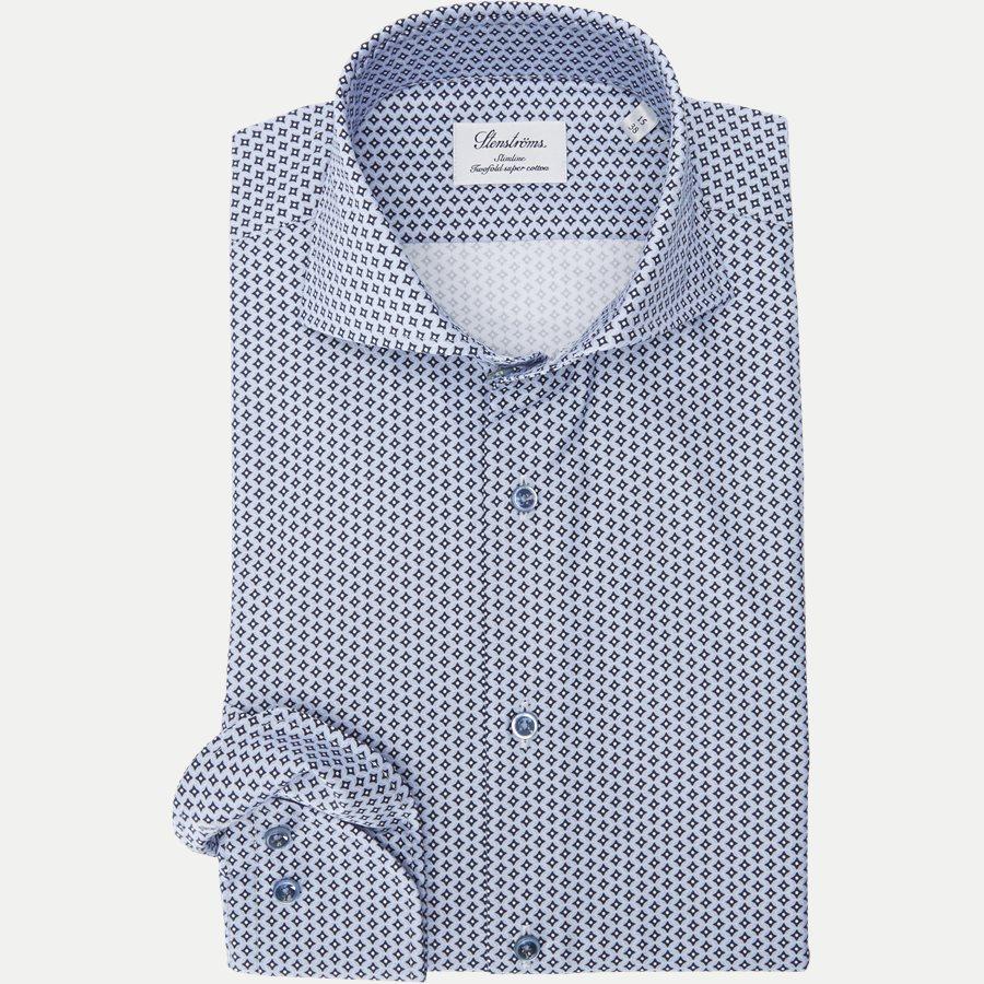 7707 712111/612111 - 7707 Twofold Super Cotton Skjorte - Skjorter - BLÅ - 1