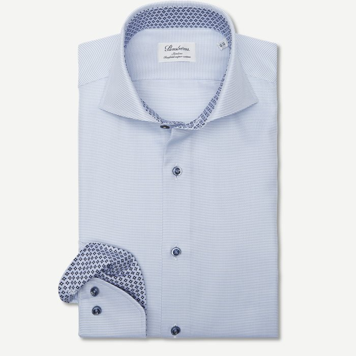 2193 Twofold Super Cotton Skjorte - Skjorter - Blå